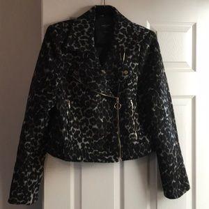 NWOT Marciano leopard moto jacket